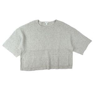 J. JILL Gray Oversized Shaker Knit Sweater